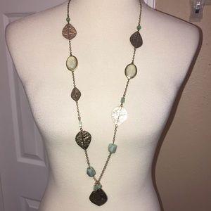 Leaf motif adjustable necklace 🍀